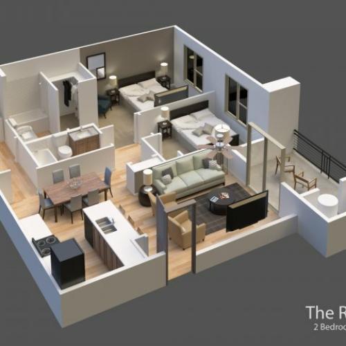The Ravine 3D Rendering