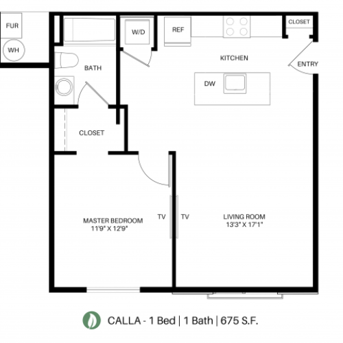 The Calla Floor Plan Layout