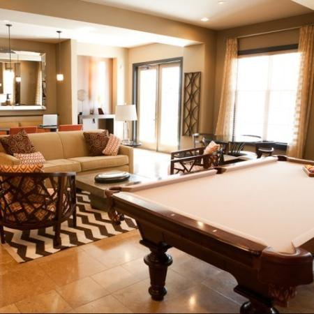 Billiards table at The Alexander at Ghent Apartment Homes in Norfolk, VA