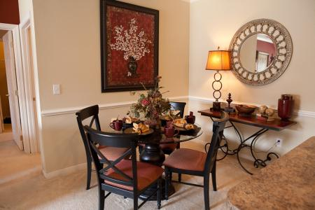 Dining area at The Belvedere Apartments in North Chesterfield, VA
