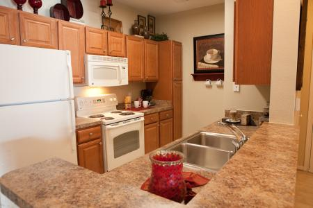 Kitchen at The Belvedere Apartments in North Chesterfield, VA