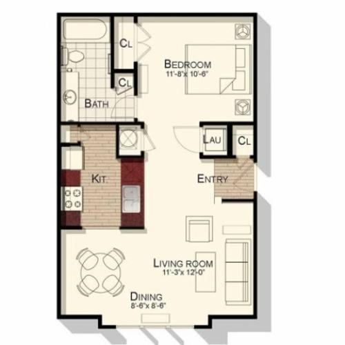 Durham Greens Apartments: 1 Bed / 1 Bath Apartment In Durham NC
