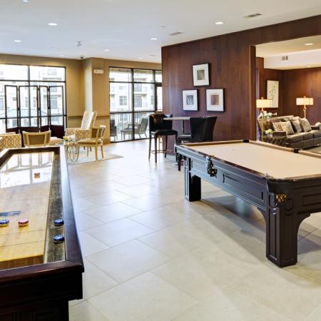 Game room at Lofts at Weston Lakeside Apartments near Raleigh in Cary, NC