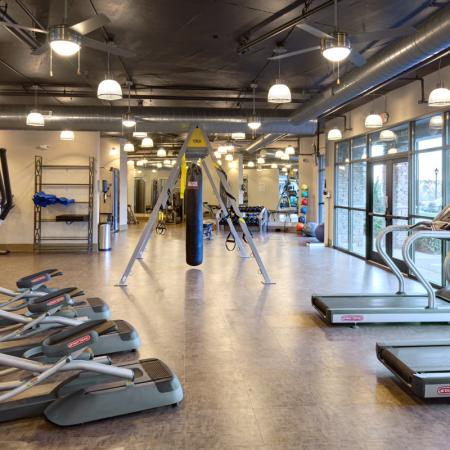 Fitness Center at Lofts at Weston Lakeside Apartments in Cary, NC