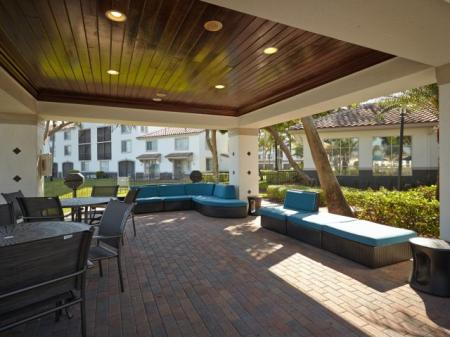 Outdoor social lounge at Doral West Apartment Homes in Doral, FL