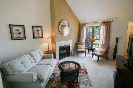 Spacious living areas at Williamsburg Townhomes Rental Homes in Sagamore Hills, OH