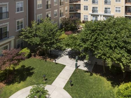 Courtyard at The Alexander at Ghent Apartment Homes in Norfolk, VA