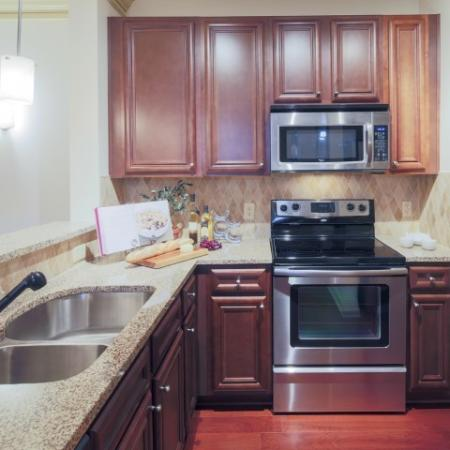 Kitchen at Apartments at the Arboretum in Cary, NC