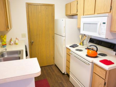 Kitchen at Lake Forest Apartments in Westerville, OH.
