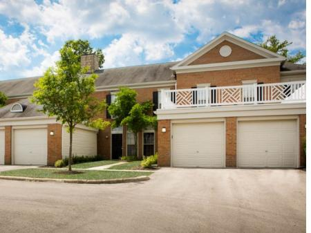 Attached garages at Kensington Grove Apartment Homes in Westerville, OH