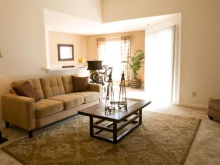 Living room at Kensington Grove Apartment Homes in Westerville, OH