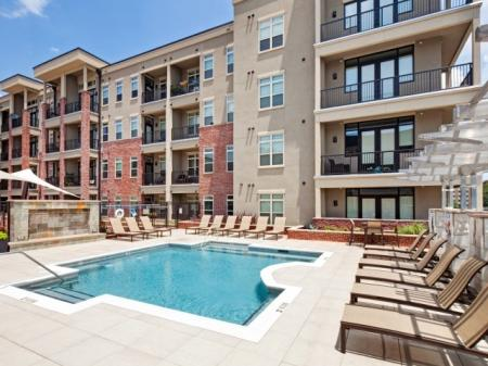 Pool at St. Mary's Square Apartments in Raleigh, NC