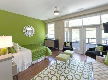 Spacious bedroom at St. Mary's Square Apartments in Raleigh, NC
