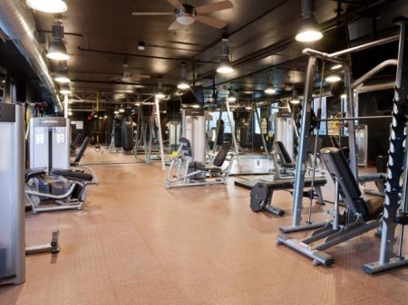 Fitness center at St. Mary's Square Apartments in Raleigh, NC