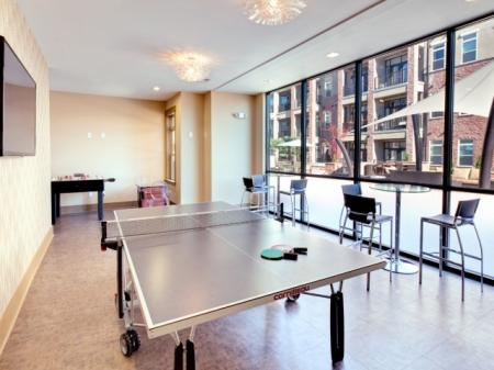 Ping pong table at St. Mary's Square Apartments in Raleigh, NC