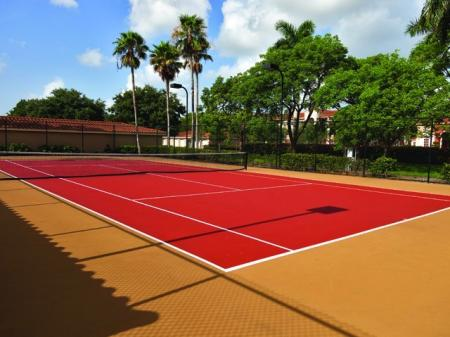 Tennis courts at Marela apartments in Pembroke Pines, Florida