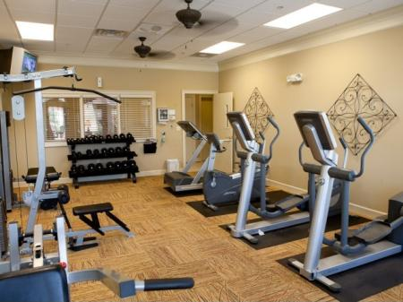 Fitness center at The Belvedere Apartments in North Chesterfield, VA