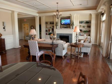 Clubhouse with fireplace at The Belvedere Apartments in North Chesterfield, VA
