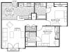 2bd/2ba floor plan