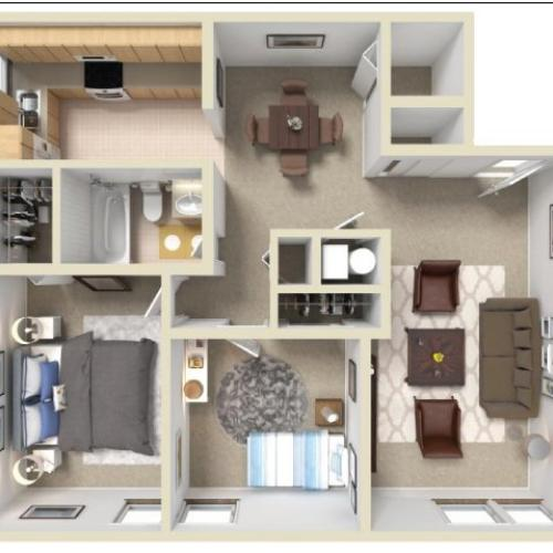 2-bed|1-bath Wood Creek Apartment