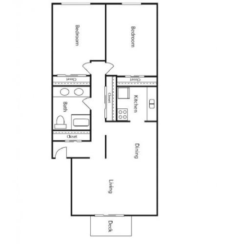 Floor Plan 1 | Student Apartments Kalamazoo | 13 Twenty-Four Kalamazoo