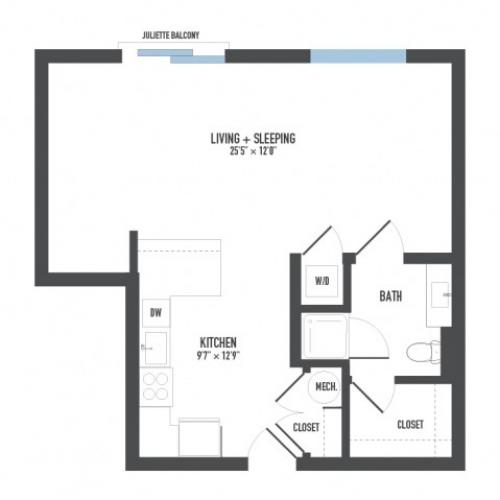 Floor Plan 3 | Pittsburgh Apartments | Arsenal 201