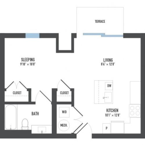 Floor Plan 4 | Luxury Apartments Pittsburgh Pa | Arsenal 201