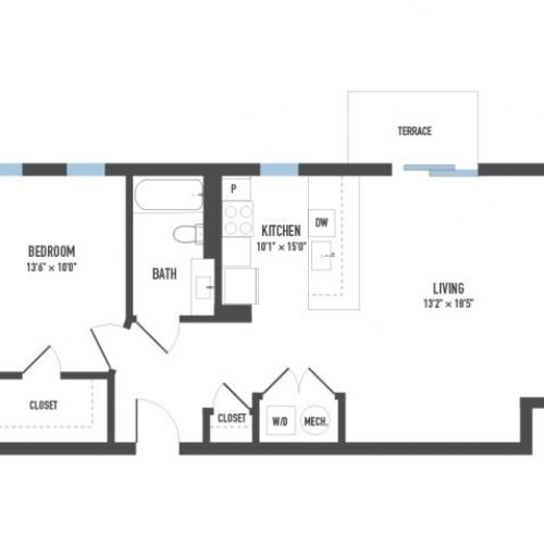 Floor Plan 10 | Apartments In Pittsburgh | Arsenal 201