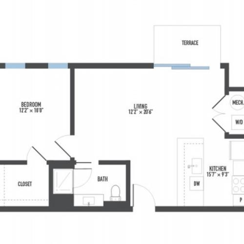 Floor Plan 11 | Luxury Pittsburgh Apartments | Arsenal 201