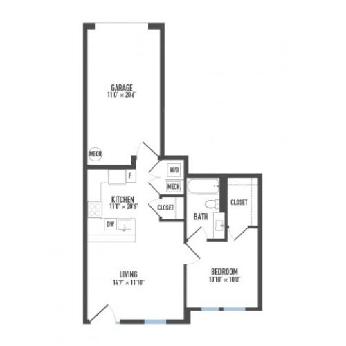 Floor Plan 14 | Luxury Apartments Pittsburgh Pa | Arsenal 201