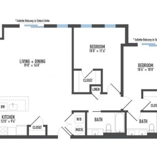 Floor Plan 15 | Apartments In Pittsburgh | Arsenal 201