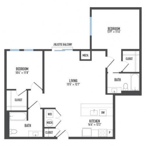 Floor Plan 18 | Pittsburgh Apartments | Arsenal 201