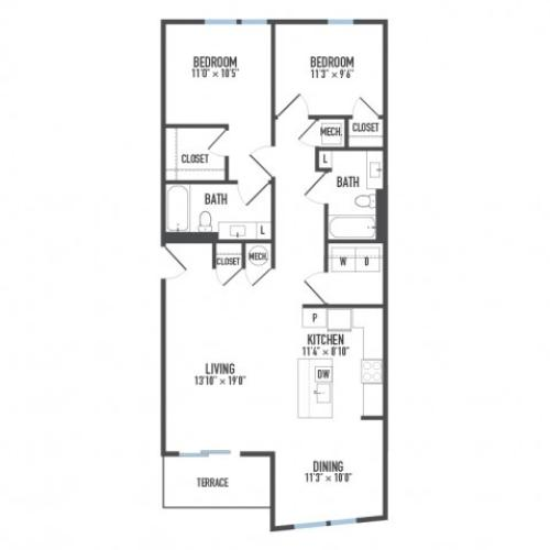 Floor Plan 28 | Pittsburgh Apartments | Arsenal 201