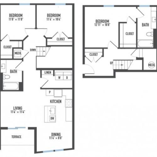 Floor Plan 30 | Apartments In Pittsburgh | Arsenal 201