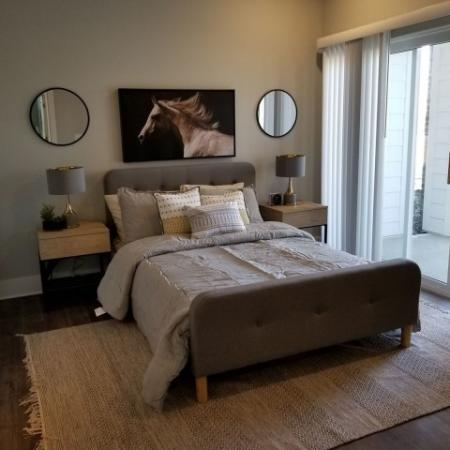 Elegant Master Bedroom   Luxury Apartments In Plainfield Indiana   Echo Park at Perry Crossing