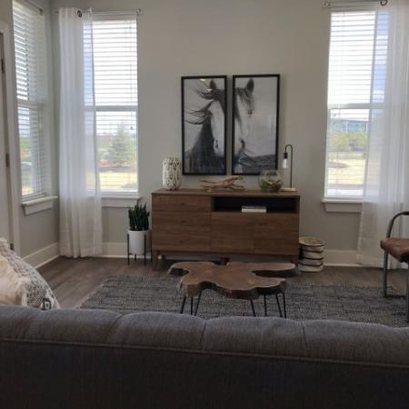 Spacious Living Room   Plainfield IN Apartments   Echo Park at Perry Crossing