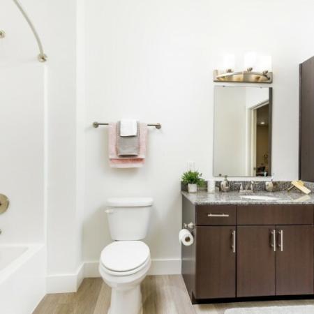 Spacious Bathroom | Apartments Bloomington IN | Echo Park-Bloomington