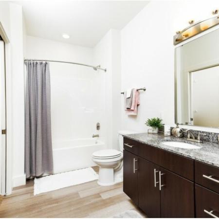 Ornate Bathroom | Luxury Apartments Bloomington IN | Echo Park-Bloomington