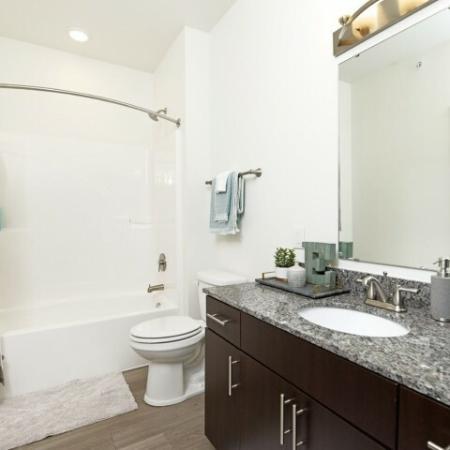 Elegant Bathroom | Luxury Apartments Bloomington IN | Echo Park-Bloomington