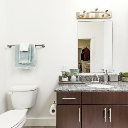 Luxurious Bathroom | 1,2,3 Bedroom Apartments Bloomington IN | Echo Park-Bloomington
