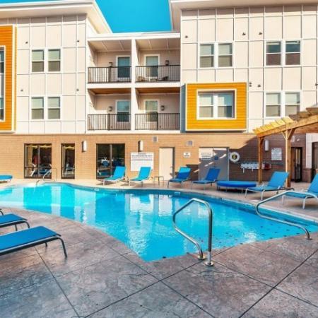 Resort Style Pool | Luxury Apartments Bloomington IN | Echo Park-Bloomington