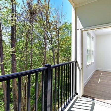 Spacious Apartment Balcony | 1,2,3 Bedroom Apartments Bloomington IN | Echo Park-Bloomington