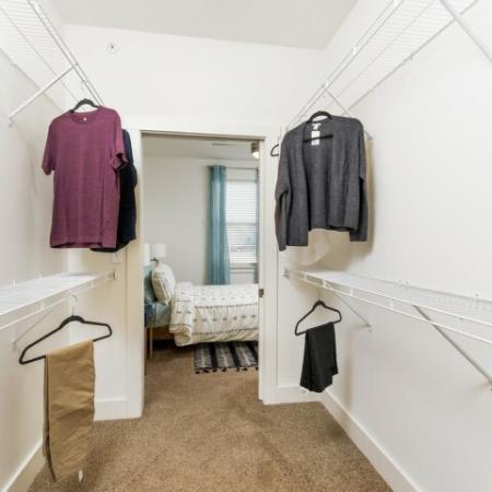 Spacious Closet | Luxury Apartments Bloomington IN | Echo Park-Bloomington