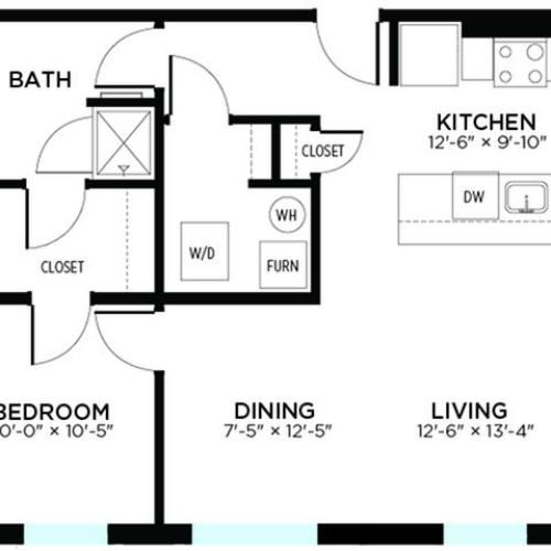 College - 1 Bed, 1 Bath