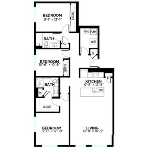 Broadway - 3 Bed, 2 Bath