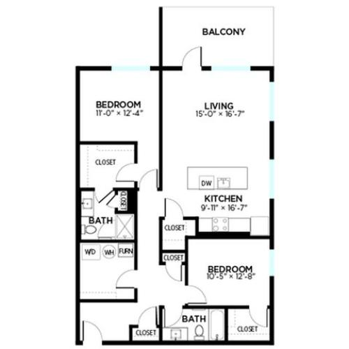 Carrolton - 2 Bed, 2 Bath