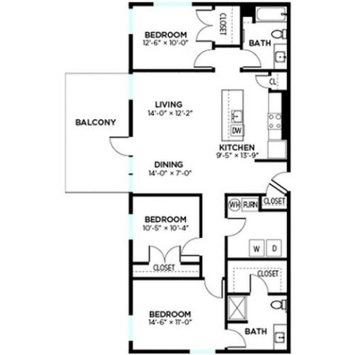 Ruckle - 3 Bed, 2 Bath