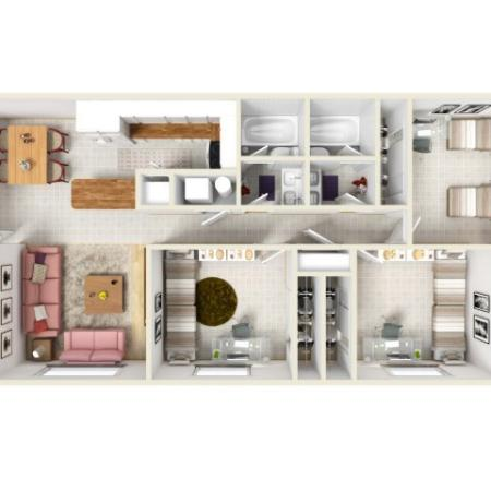 Floor Plan | Raintree Commons Apartments