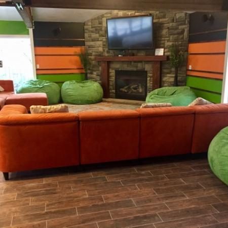 Raintree Commons Apartments Clubhouse TV Room