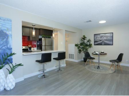 Modern Kitchen   UNLV Student Apartments   The Point on Flamingo